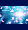 multicolored flying petals spring effect realistic vector image vector image