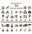packing simbols vector image vector image