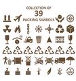 Packing simbols vector image