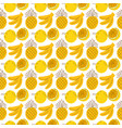 pattern background with fruit elements banana vector image