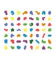 random colored blotch organic irregular shapes vector image vector image