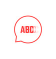 red stuttering logo like speech bubble vector image vector image