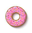 ring shaped donut covered with strawberry vector image