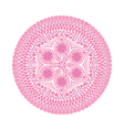 round lace doily background for sewing arts crafts vector image