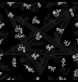 seamless background with white mystic symbols on b vector image vector image