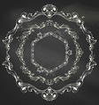 set of circle chalk frames vector image vector image