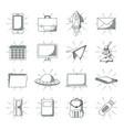 set of doodles elements vector image vector image