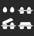 set of eggs icons 2 eggs separately and in the vector image