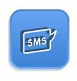 sms isometric icon for graphic and web design vector image vector image