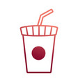 soda cup design vector image vector image