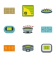 Sports complex icons set flat style vector image vector image