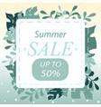 summer sale design banner summer abstract vector image
