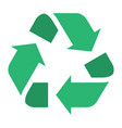 the universal recycling international symbol for vector image vector image
