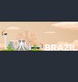 travel banner to brazil flat vector image vector image