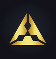 triangle gold diamond logo vector image