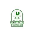 weather vane logo design in vintage style vector image vector image