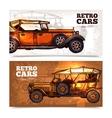 Retro Cars Banner Set vector image
