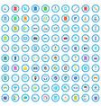 100 app icons set cartoon style vector image vector image