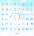 40 Trendy Thin Icons for web and mobile Set 10 vector image vector image