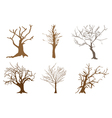A Set of Abstract Isometric Brown Trees vector image vector image