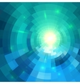 Abstract blue shining circle tunnel background vector image vector image