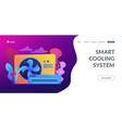 air conditioning concept landing page vector image vector image