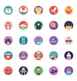 baby and kids flat icons collection vector image