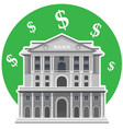 bank of england london isolated vector image vector image