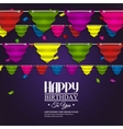 Birthday card with bunting flags in the style of vector image vector image