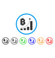 bitcoin bar chart positive trend rounded icon vector image vector image