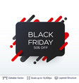black friday discount badge vector image