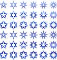Blue star shape set vector image vector image