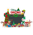 card template with snowman and christmas presents vector image vector image
