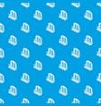 castle balcony pattern seamless blue vector image