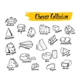 cheese types vector image