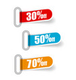 collection sale banners labels tags cards flat vector image vector image