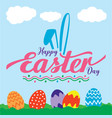 colorful happy easter day greeting vector image vector image