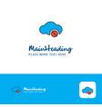creative cloud not working logo design flat color vector image