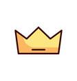 crown icon king icon vector image vector image