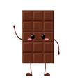 cute chocolate bar character vector image