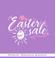 easter sale greeting text composition vector image