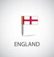 england flag pin vector image vector image