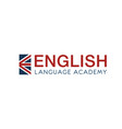 english language academy sign vector image vector image