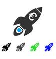 euro rocket startup flat icon vector image vector image