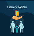 family room flat concept icon vector image vector image