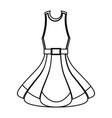 fashion woman dress vector image vector image