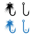 fishing hooks and lures set vector image vector image