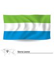 Flag of Sierra Leone vector image vector image