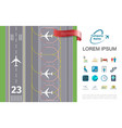 flat air travel concept vector image vector image