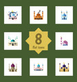 flat icon mosque set of muslim building mosque vector image vector image